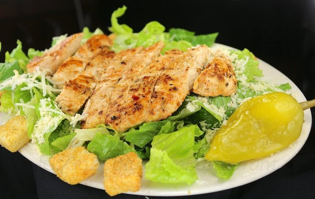 Caesar Chicken Salad at columbia restaurant