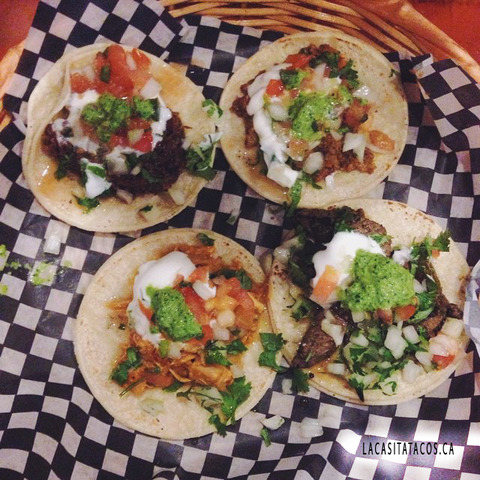 Happy belated National Taco Day - Four taco combo at La Casita Tacos