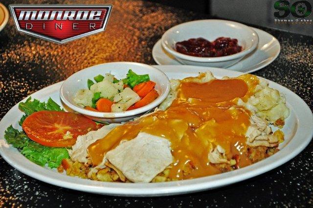 Hot Turkey dinner at Monroe Diner Inc