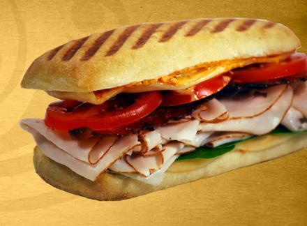 Turkey Club Panini at Einstein Bros. Bagels