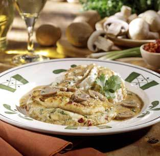 Stuffed Chicken Marsala at Olive Garden