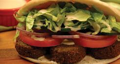 Falafel Sandwich at Murphey's Deli
