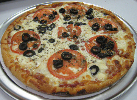 Greek Pizza at Toula's House of Pizza