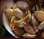Fresh, Steamed Manila Clams at Cabbage Patch