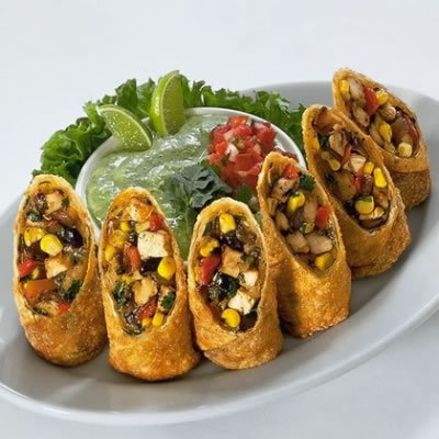 Tex Mex Eggrolls at The Cheesecake Factory