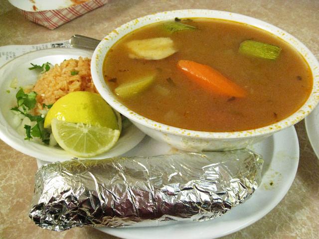 Albondigas Soup at Taqueria El Picosito Restaurant
