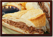 French Dip at La Madeleine French Bakery