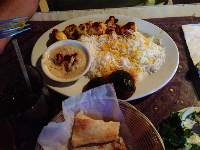 Chicken Breast Kabob and Sour Cherry Rice at Alborz Persian Cuisine