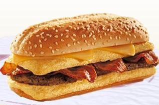 The Enormous Omelet Sandwich at Burger King