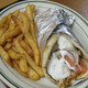 includes french fries - Grilled Chicken Gyro at Toula's House of Pizza