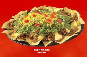 Beef Nacho Salad, Beef Taco at Taco Bell