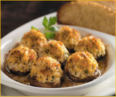 Crab Stuffed Mushrooms at Romano's Macaroni Grill