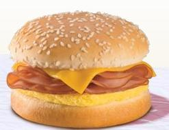 Ham Omelet Sandwich at Burger King