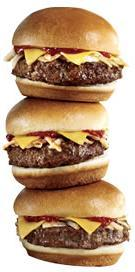 Mini Sirloin Burgers at Jack in the Box
