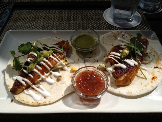West Coast Fish Tacos at Del Frisco's Grille