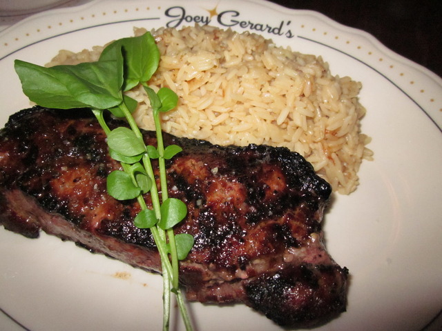 New York Strip at Joey Gerard's - A Bartolotta Supper Club