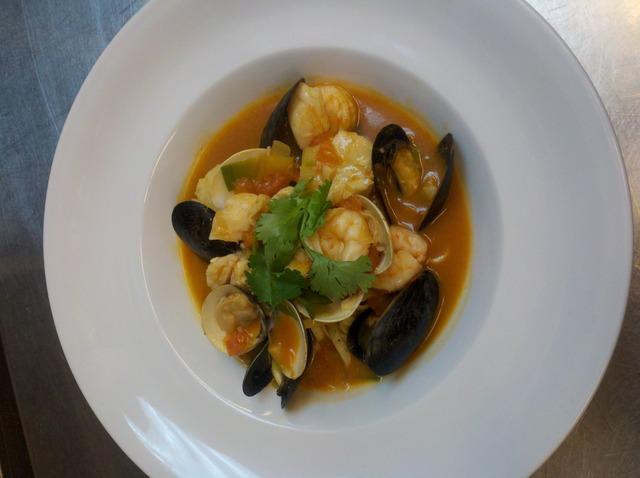 Seafood Pasta Bouillabaisse at Bernardin's Restaurant