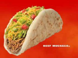 Beef Muchaco®, Bean Burrito, Beef Taco at Taco Bell