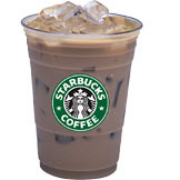Iced Sugar-Free Syrup Flavored Latte at Starbucks Coffee