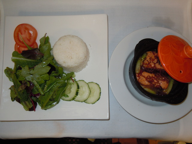 Claypot Salmon at Saba Cafe