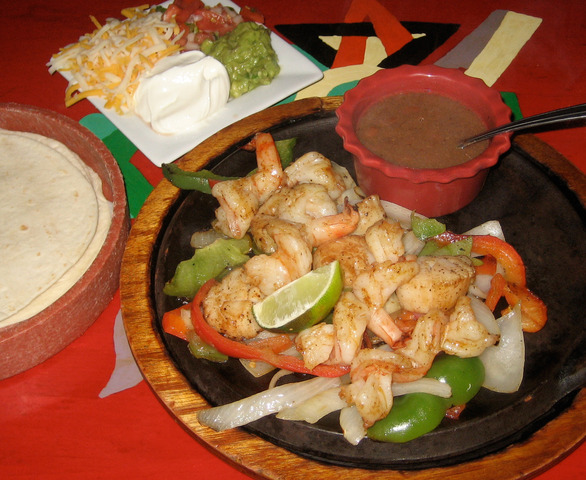 Ultimate Seafood Fajitas at Lista's Grill