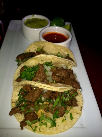 Filet Mignon Tacos at La Boheme