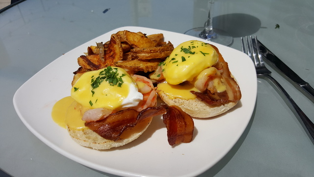 TIGER SHRIMP BENEDICT at Black Sheep MKE