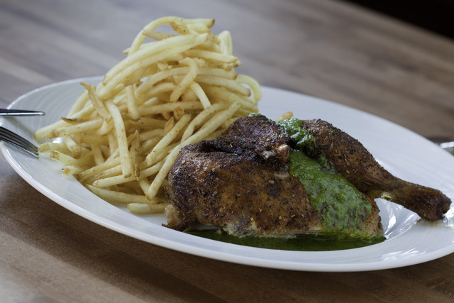 Roasted Chicken with Key Lime Sauce at Pinon Grill
