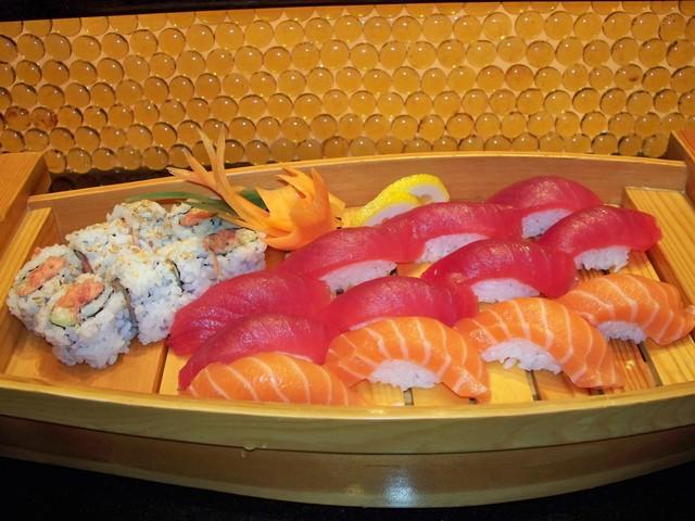 TUNA SALMON BOAT at Arisu Japanese Cuisine