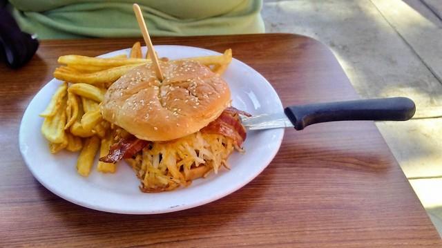 Bacon Slamburger at Denny's