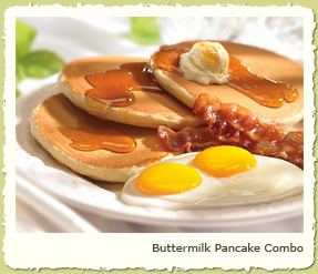 BUTTERMILK PANCAKE COMBO at Coco's