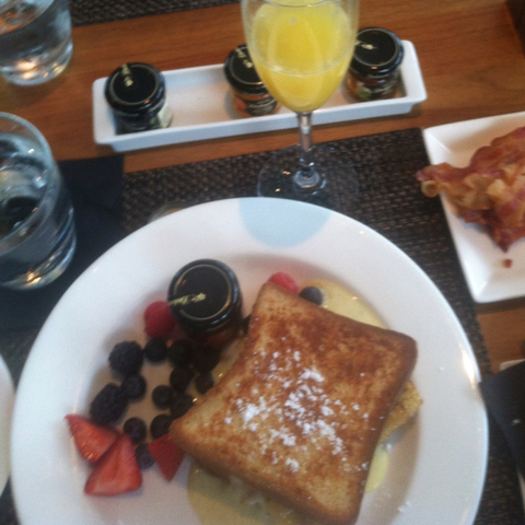 Rum Banana French Toast at Cafe Dupont Restaurant