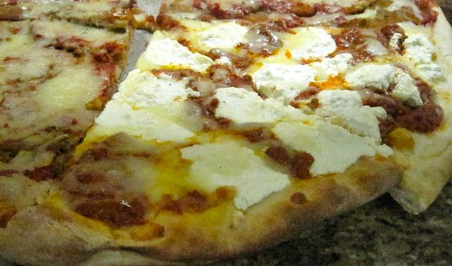 Lasagna Pizza at Pelham Pizza