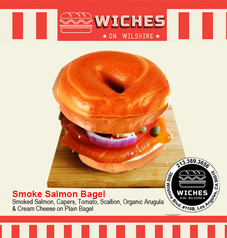 Smoked Salmon Bagel at Wiches on Wilshire