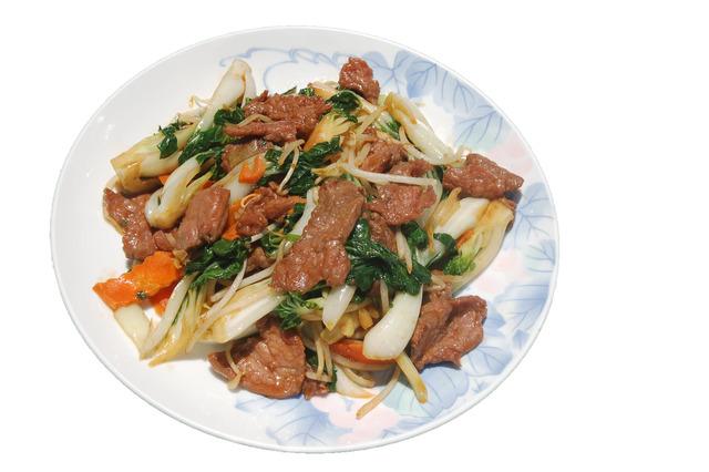 Beef w/ Bak Choy at Shanghai Restaurant
