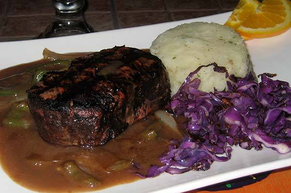 Black and Blue Filet (special) at Lista's Grill