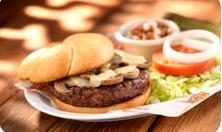 Mushroom Swiss Burger at Hooters