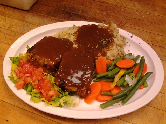 Meatloaf Homemade at Monroe Diner Inc