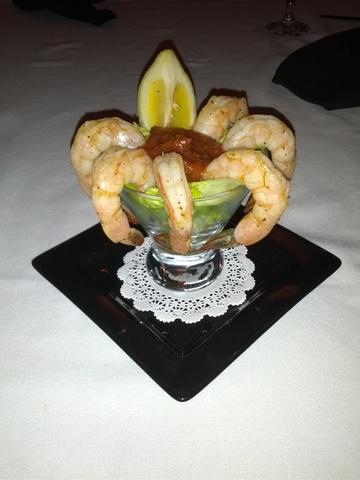 Shrimp Cocktail at 1800 Prime Steakhouse