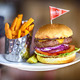 Photography by Shanna Gillette - Free-Range Burger at Open Range Grill & Tavern