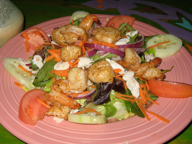 Grilled Seafood Salad at Lista's Grill
