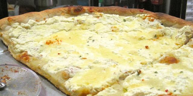White Pizza at Pelham Pizza