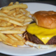 Tuesdays get this bad boy for 2 bucks(ALL DAY)brkfast lunch dinner - 1/2lb burger & fries at Duffy's Restaurant & Grill