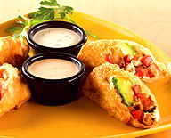 Avocado Club Egg Rolls at California Pizza Kitchen