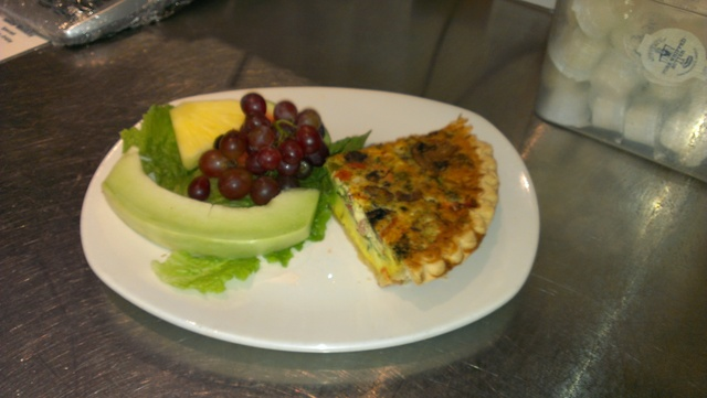 Quiche of the Day at Blueberry Hill