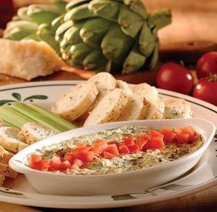 Hot Artichoke-Spinach Dip at Olive Garden