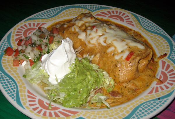 Southwest Steak, Chicken, or Shrimp Burrito at Lista's Grill