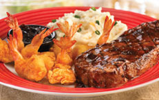 New York Strip & Shrimp at T.G.I. Friday's
