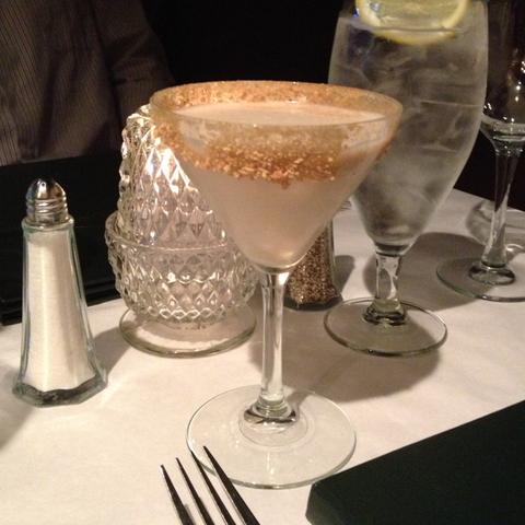 German chocolate cake martini at Bombay Club Restaurant & Martini Bistro