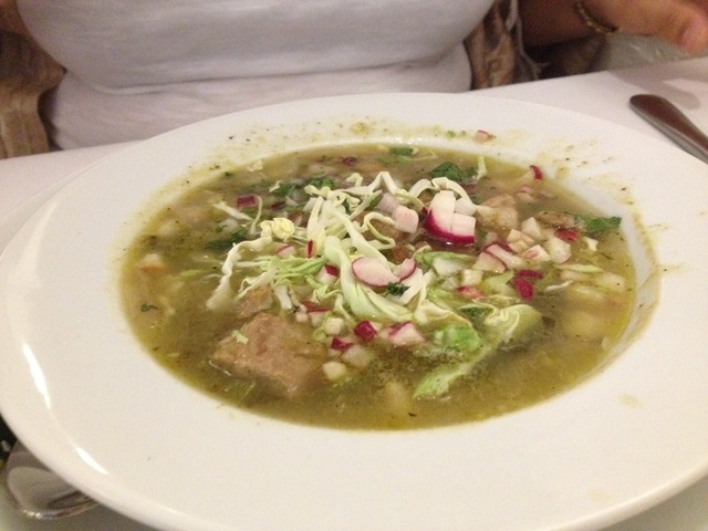 Posole Verde at Barrio Cafe